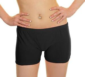 Black Hot Pants Seamless 6.5 Inches Short Pants One Size