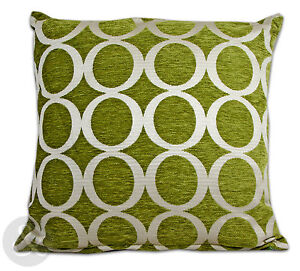 Retro-Modern-Chenille-Cushions-Green-Small-and-Large-Scatter-Cushion-Covers
