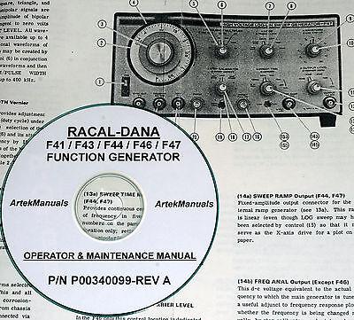 Racal-dana F41 F43 F44 F46 F47 Function Generators Manual Ops Service