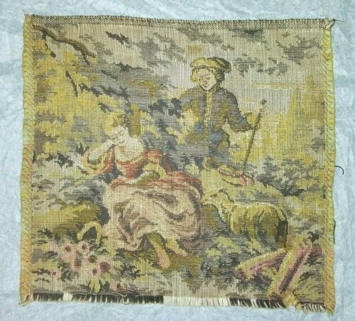 Antique 19th Century French Tapestry - Pastoral Scene - Wall Hanging/ Room Decor