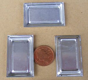 1-12-Scale-3-Tin-Trays-Dolls-House-Miniature-Metal-Food-Baking-Tray-Accessory-L