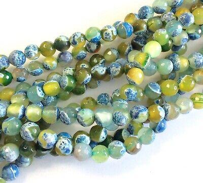 8mm Fine Multi Colored Fire Agate Round Gemstone beads Stone  (Fire Agate Coloured Gemstone)