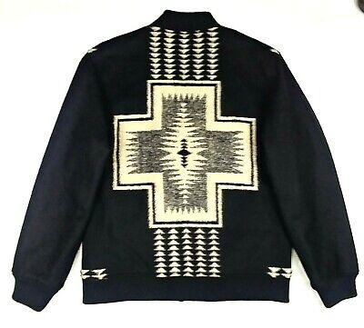 PENDLETON Mens XL HARDING Park Jacquard WOOL Blend Zip Front BOMBER Jacket  Jacquard Zip Jacket