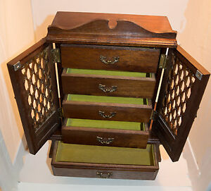 Wooden Jewellery Cabinet with music box