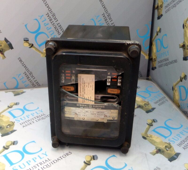 GENERAL ELECTRIC 12IAC77B4A TYPE IAC TIME UNDERCURRENT RELAY BROKEN #1