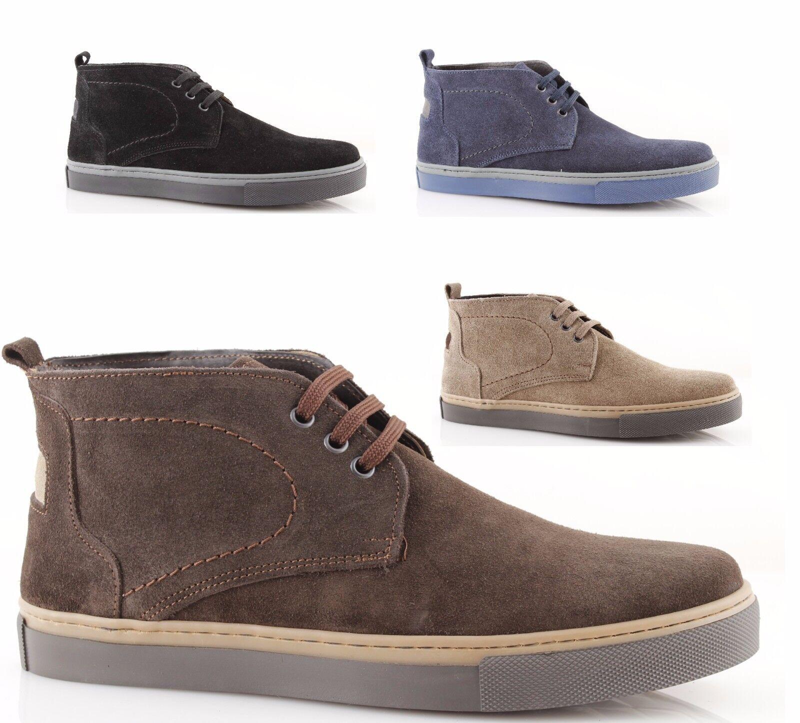 polacchine uomo scarpe made in italy pelle camoscio nero blu marrone beige nuove