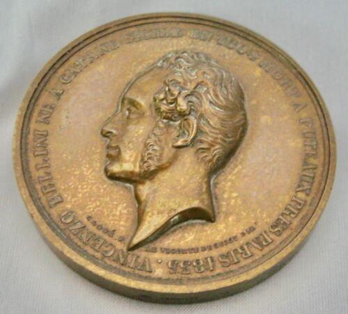 Bronze Medallion of Vincenzo Bellini