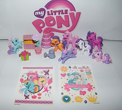 My Little Pony The Movie Figure Set of 14  with New Figures, Sticker and - My Little Pony Rings