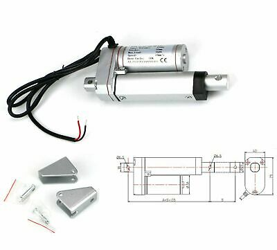 2 Inch Stroke Electric Linear Actuator Heavy Duty 330lbs Load 12volt Dc Motor