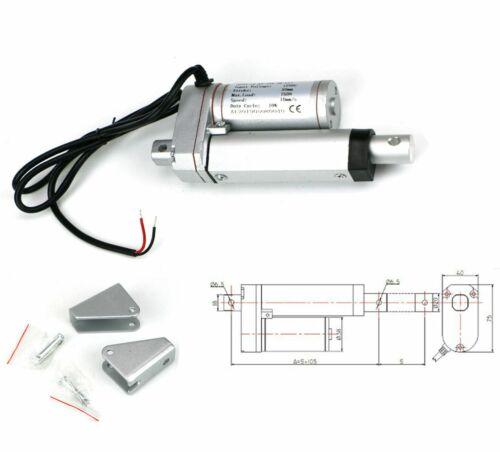 "2"" Inch Stroke Electric Linear Actuator Heavy Duty 330lbs Load 12~Volt DC Motor"