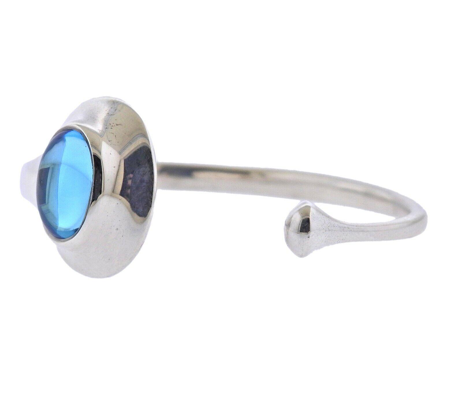 New Georg Jensen Vivianna Blue Topaz Silver Bracelet 269 Small - $680.00