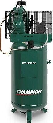 Industrial 5hp Air Compressor 2 Stage 19.1 Cfm Displ Single Phase Vrv5-8 Usa