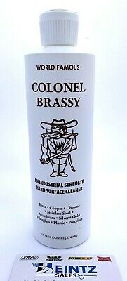 Colonel Brassy - Hard Surface Cleanerpolish - Motorcycle Boat Atv Rv Metal-16oz