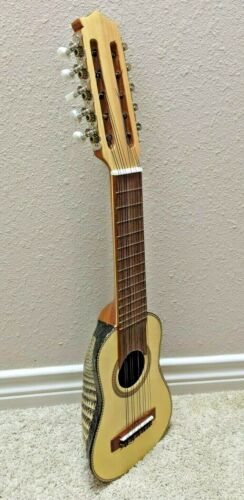 New 10 String Professional Charango with Genuine Armadillo, Includes Gig Bag