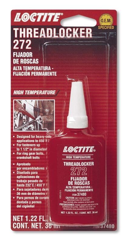 Loctite 37480 272 Red High Temperature Threadlocker Bottle, 36 ml Bottle