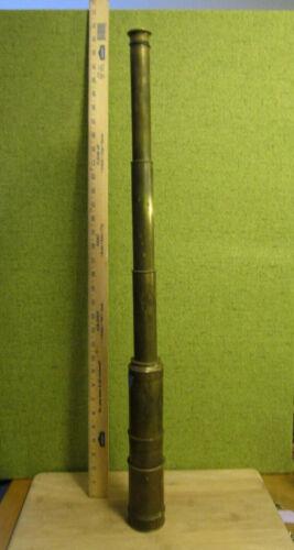 "the real deal maritime spyglass telescope brass 34"" w/ extra eyepiece"