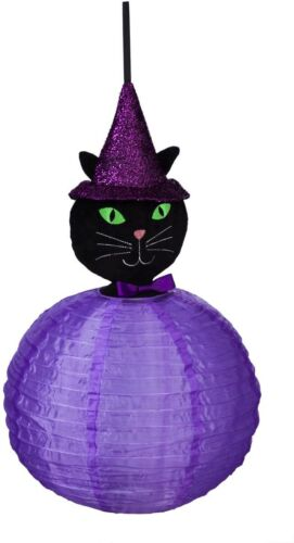 NEW BEAMING BUDDIES COLLAPSIBLE CAT HALLOWEEN LANTERN INDOOR/OUTDOOR LED PRISM