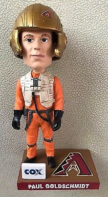 Paul Goldschmidt X-Wing Fighter Pilot Star Wars Bobblehead VERY RARE GOLD Helmet