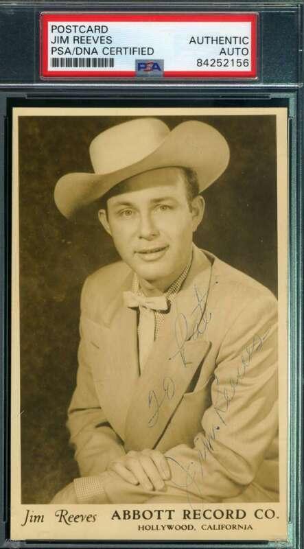 Jim Reeves PSA DNA Cert Signed Photo Postcard Autograph