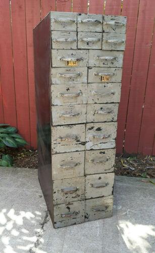 Antique Industial Masterpiece Steampunk Vintage Metal Parts Cabinet HAND WELDED
