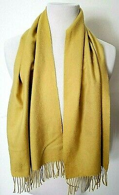 Vintage Scarf Styles -1920s to 1960s Vintage Bullock's Made In Scotland 100% Cashmere Yellow Scarf $12.99 AT vintagedancer.com