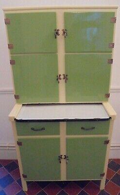 KITCHEN LARDER 1930 1940 CABINET CUPBOARD PANTRY Storage Enamel Fully Restored