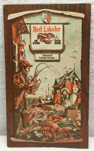 Restaurant Menu The Red Lobster Seafood & Steaks Restaurant 1976 vintage ANTIQUE