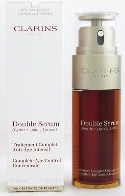 Clarins Double Serum Complete Age Control Concentrate 1.6 oz. New 2017 Formula