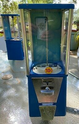 OAK Mfg Gumball 10 Cent DIME Astro Vista 300 CANDY Vending Machine w LOCK No key