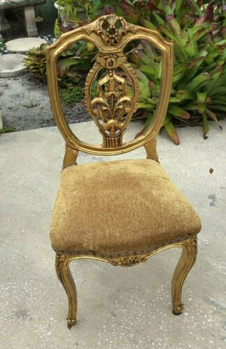 18th Century French gilded Desk Chair