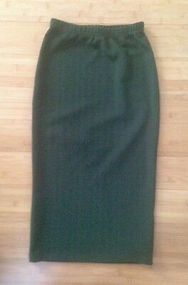 Women's ASOS Olive High Waisted Midi Pencil Skirt Size S XS