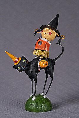 Lori Mitchell™ - Sissy & Her Cat - Halloween Witch Girl Black Kitty Girl - 36129