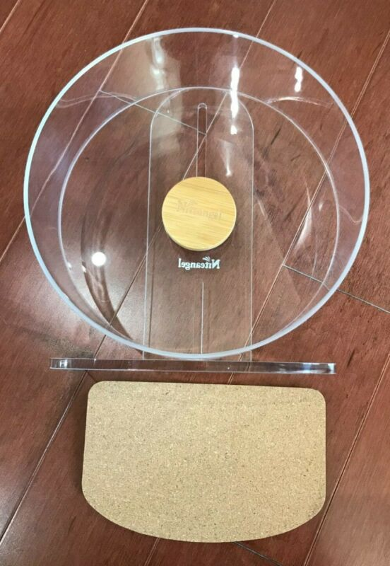 Niteangel Silent Hamster Exercise Wheel Dual-Bearing Quiet Spinning Acrylic NEW