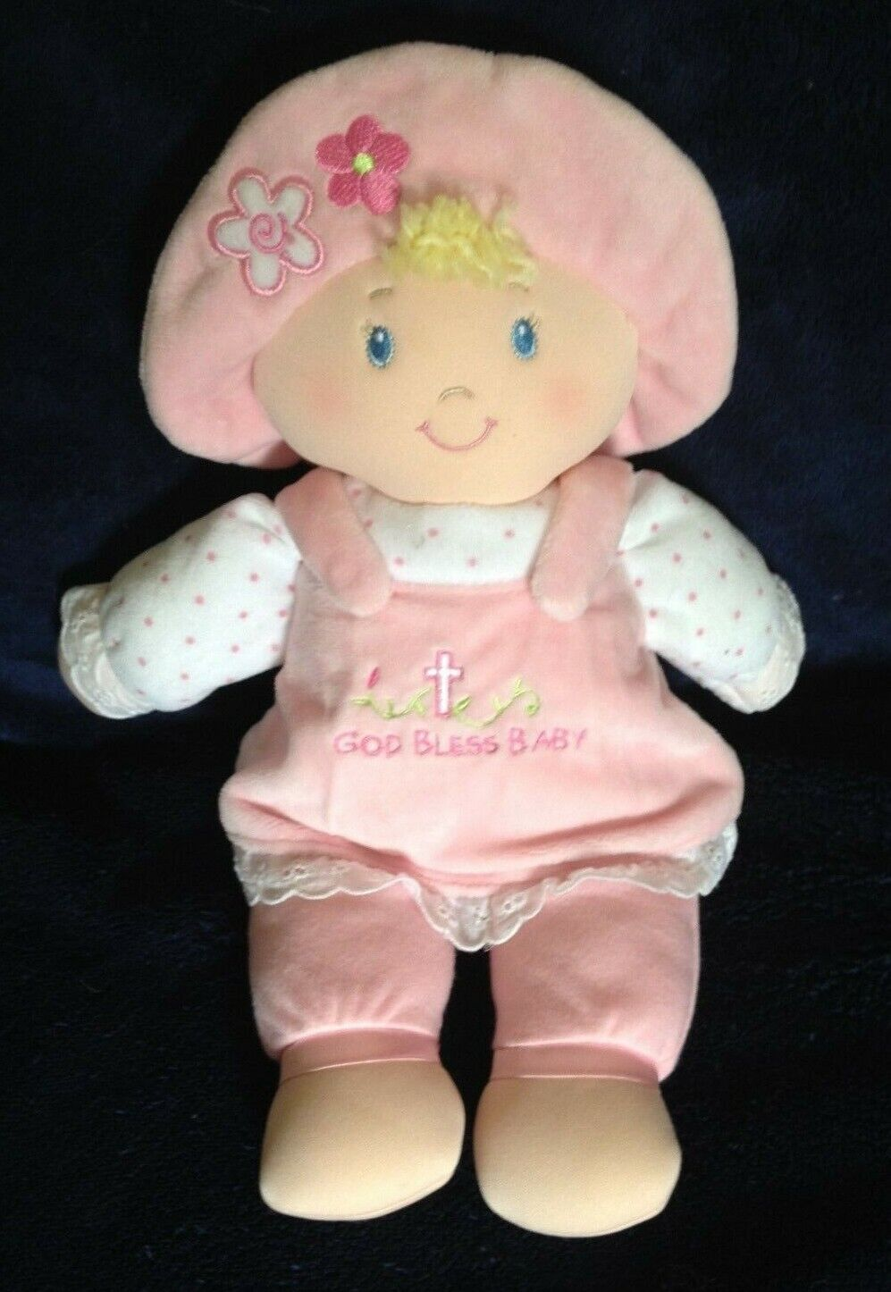 Gund God Bless Baby Doll Soft Pink Plush Girl Dolly 12  - $22.99