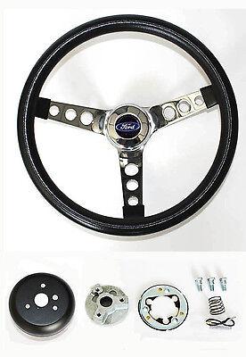 "75-77 Bronco 70-77 Ford Pick Up F100 F150 F250 F350 steering wheel Black 13 1/2"" comprar usado  Enviando para Brazil"