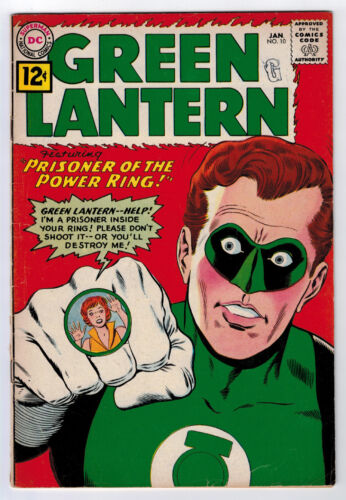 GREEN LANTERN #10 3.0 GIL KANE ART 1962 OFF-WHITE PAGES