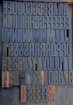 Letterpress Wood Printing Blocks 90 Pcs 3.54 Tall Wooden Type Woodtype Alphabet