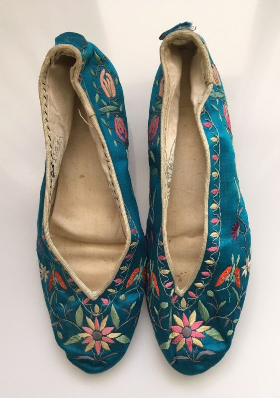 Vintage Chinese Silk Embroidered Shoes