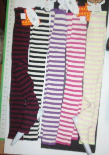 "Thigh High Striped Legwarmers 5 Fun colors ladies sizes 30"" Sansha Londrea KT014"