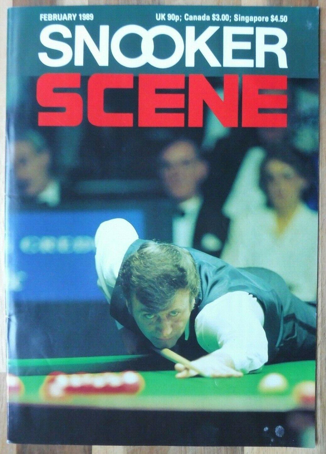 Snooker Scene Magazine, February 1989, Good Condition.