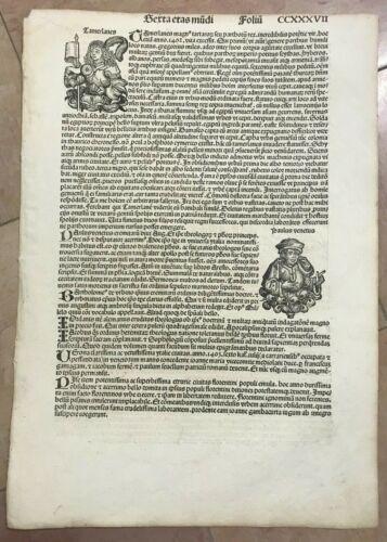 CHRONICLE OF NUREMBERG 1493 HARTMANN SCHEDEL ORIGINAL INCUNABLE BERTA ETAS MUNDI