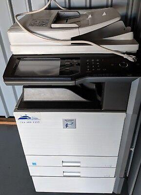 Sharp Mx M453n Monochrome Laser Mfp Copier Printer Scanner 45ppm