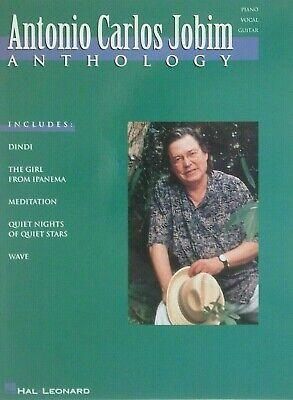 Antonio Carlos Jobim ANTHOLOGY Piano Vocal Guitar Songbook, 22 songs ~BRAND NEW!