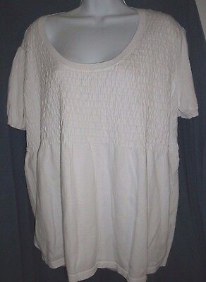 Chadwicks Woman's White Short Sleeved Sweater Size 1X