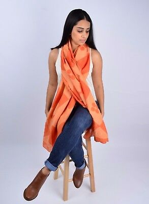 Handmade Block Printed Women Silk Cotton Halloween Scarf with Natural Dyes ](Halloween Scarf)