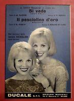 Spartito Kessler - Si Vede - Il Pesciolino D'oro - Per Piano E Strumenti -  - ebay.it