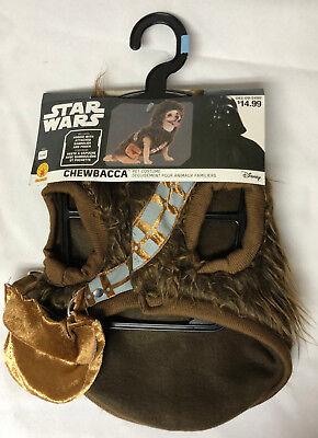 Disney Star Wars Chewbacca Dog Costume Set - Size SMALL