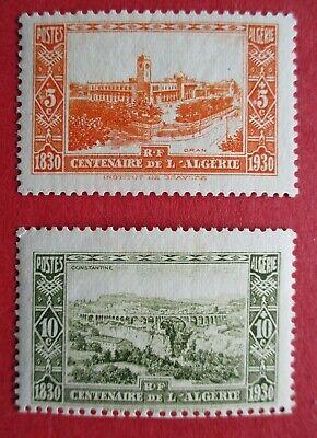 SG93-94 1930 Centenaire de L'Algerie Algeria 5c & 10c MM