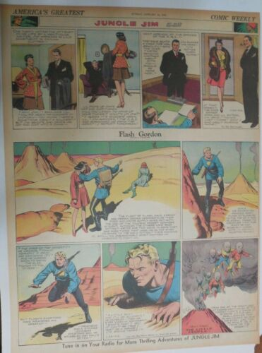 Flash Gordon Sunday by Alex Raymond from 1/24/1943 Large Full Page Size !