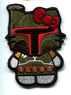 HELLO KITTY AS STAR WARS BOBA FETT EMBROIDERED IRON ON PATCH FREE SHIPPING!](Kitty Wars)